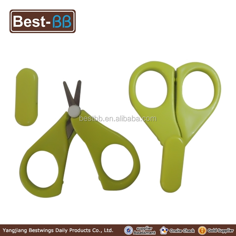 OEM manufacture stainless steel kids small scissors with plastic handle