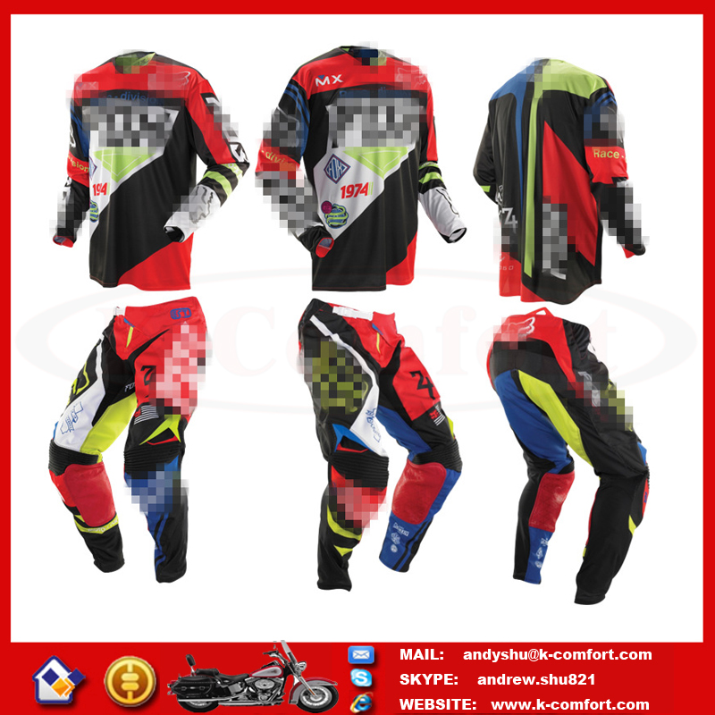 FOCX96 High quality Factory directly supply motorcycle jersey pants racing jersey custom motorcross pants for sale