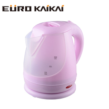 2018 hot selling plastic electric kettle with temperature control