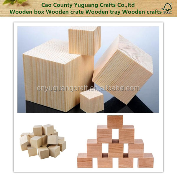 Blank plain wooden blocks made of natural hardwood small for Large wooden blocks for crafts