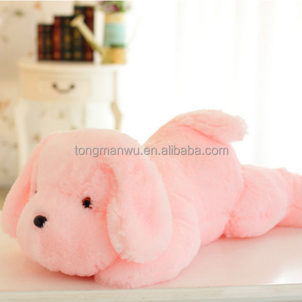 New Design Stuffed Dolls LED Dog Light Colorful Pillows Plush Toys