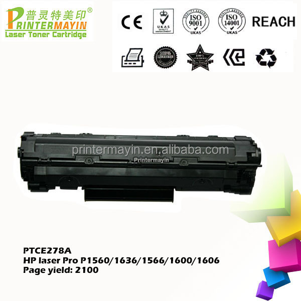 Hot-selling Toner Cartridges CE278A Compatible FOR USE IN HP Laser Pro P1560/1636 (PTCE278A)