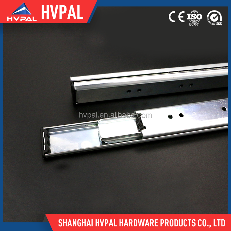 Factory furniture cabinets drawer 35mm width double stack ball bearing slide drawer runner