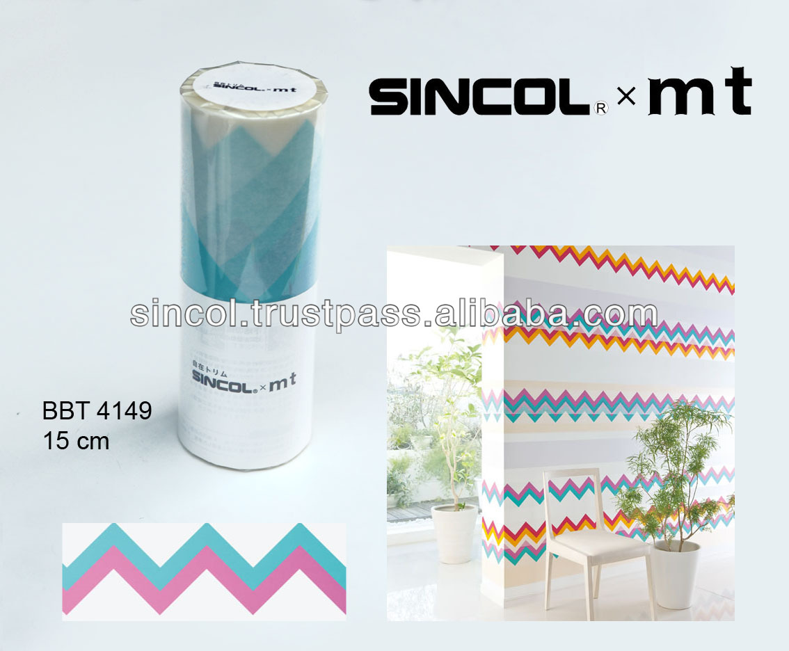 Colorful washi masking tape japan (sincol mt) decorative paper for walls