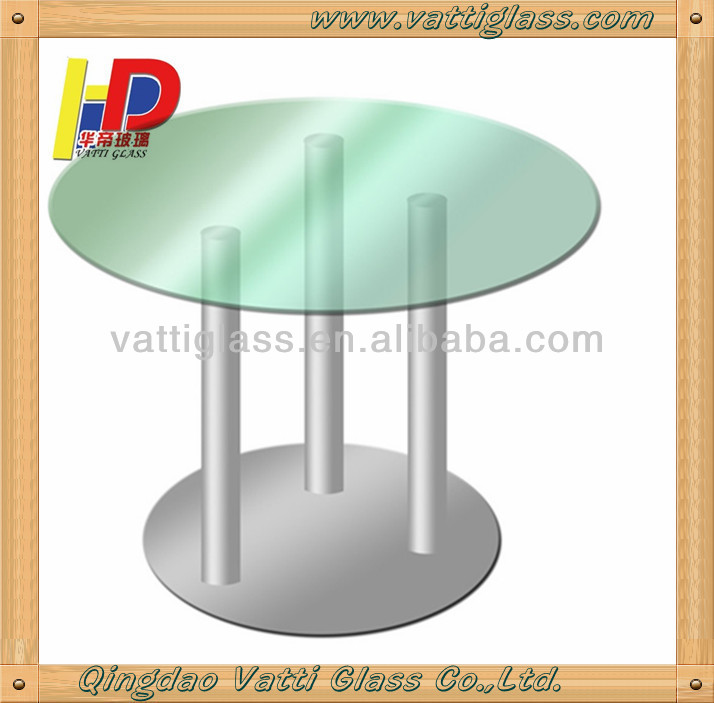 high quality tempered green glass top round extensible dining table