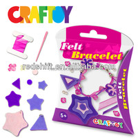 Craft toy kit Make your own Felt jewelry Star Bracelet