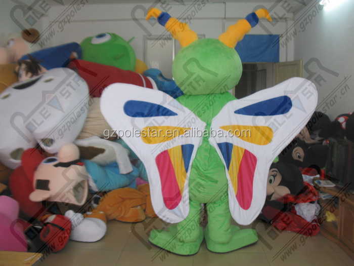 custom insect mascot costumes color wing butter fly