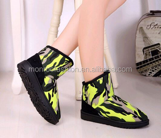 Monroo 2015 fashionable warm winter boots for girl anti-slip boots in thick bottom