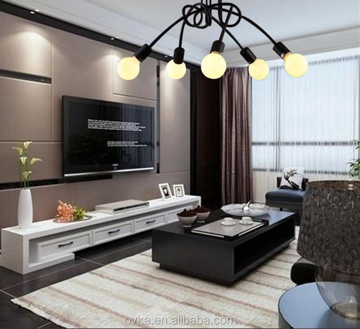 American <strong>modern</strong> creative personality Korean minimalist living room ceiling with Nordic restaurant bedroom chandelier led indoor
