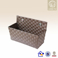 2016 colored handmade mesh hanging storage bag for household decor flower sundries