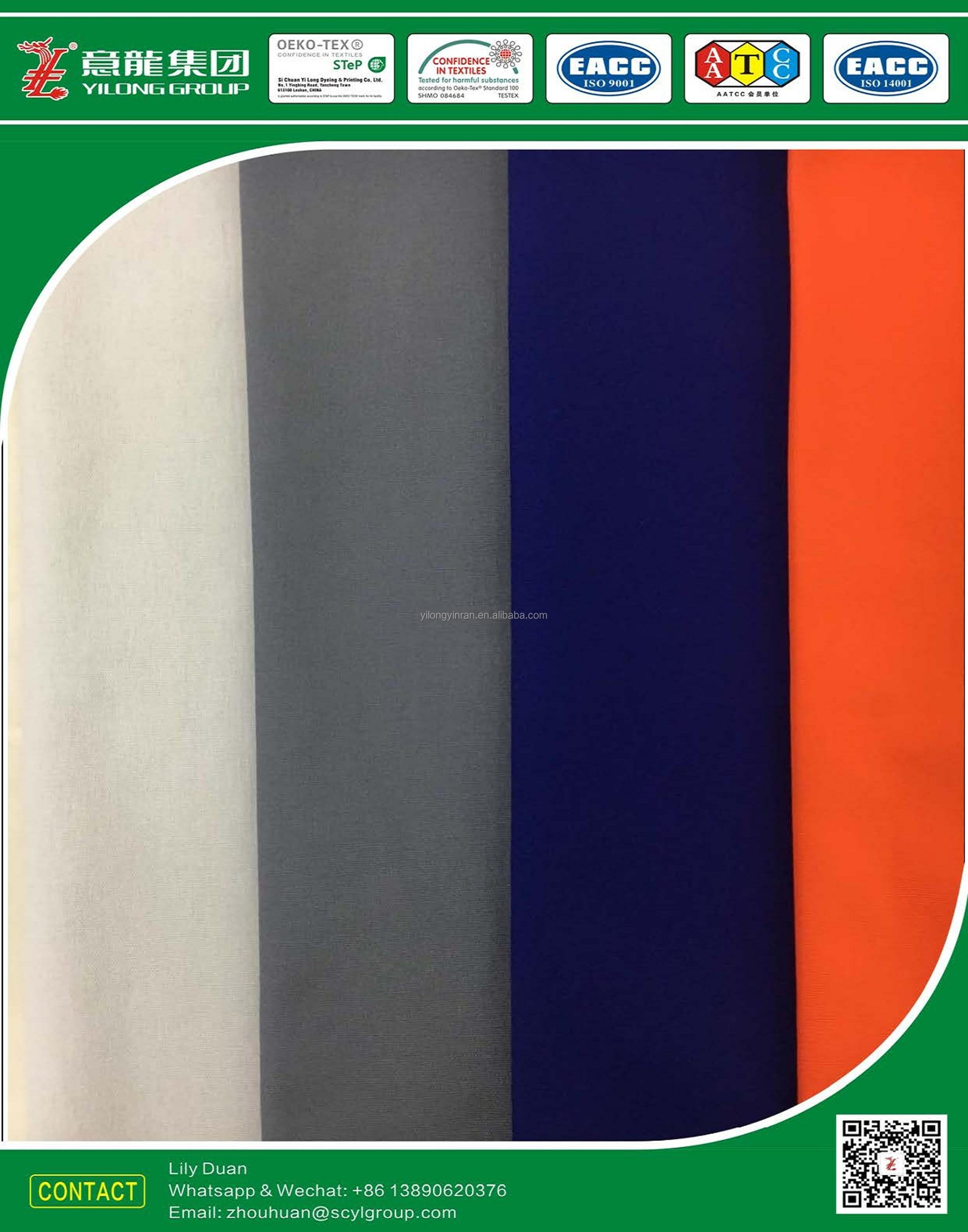 Polyester80% Cotton20% dyeing poplin cloth20*20s, dyed for uniform