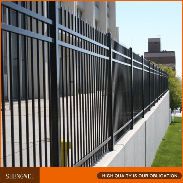 Powder coated tubular steel yard fence panel price buy