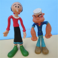 Making custom 1978 popeye pvc 5 inch bendy figure toys, custom made pvc figure toy bendable toys