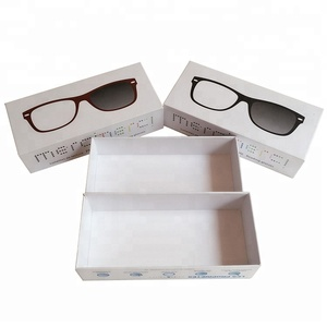 Custom sunglass box cardboard boxes for glasses recycled corrugated paper box packaging
