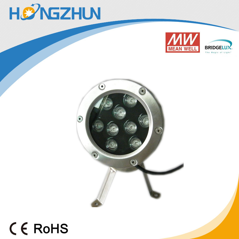 Aluminum 9w led underwater fountain light low price efficiency with high proof