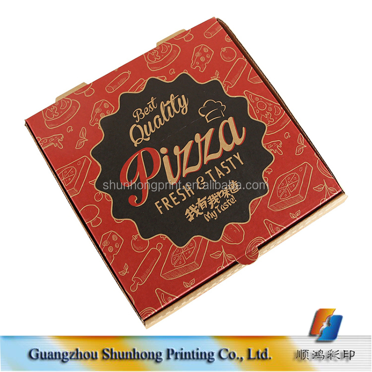 "Guangzhou manufacture wholesale 24"" italy cheap custom pizza boxes with logo"