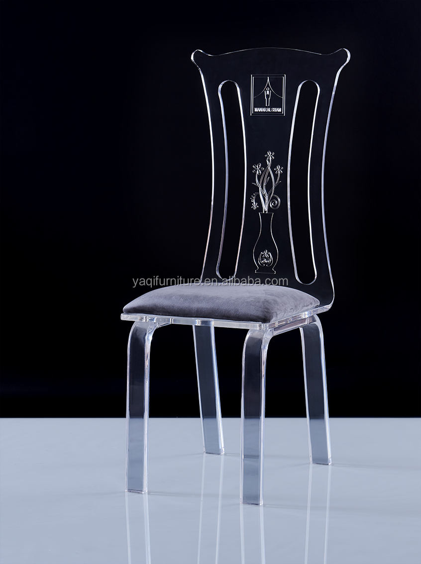 Home Furniture General Use acrylic dining chair with armrest