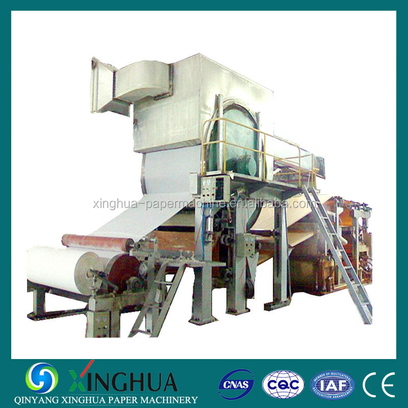 Paper machinery industry of toilet paper making machine production line from rice straw recycling