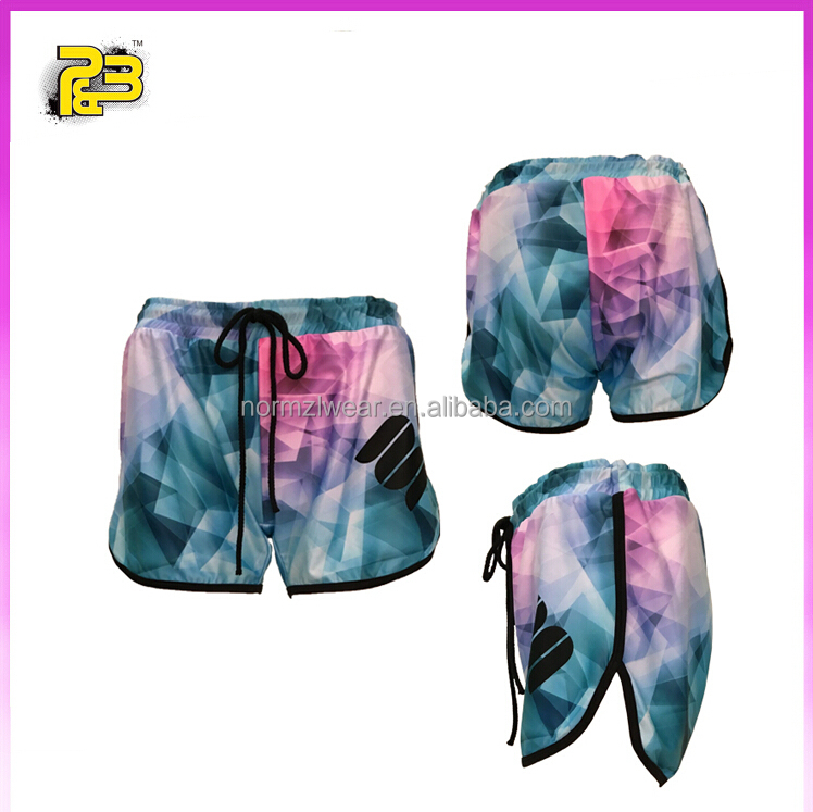 Low price and low MOQ sleamless clothing women sports short pants training pants