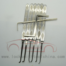 High Quality Stainless Steel Bump Key 6pcs Goso Lock Pick Set With Leather Case AML020169
