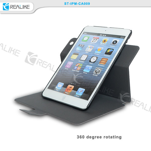 rotatory leather tablet case free sample , for ipad case tablet stand
