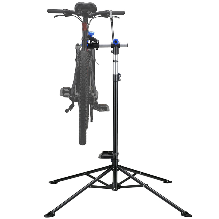 Mechanic Bike Repair Stand Adjustable <strong>101</strong> to 171cm Cycle Rack Bicycle Workstand Tool Tray
