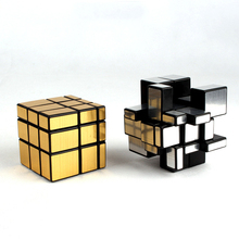 Hot puzzle toy 5.7cm fidget magical magic cube promotional plastic mirror cube