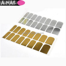 Silver Gold Color self-adhesive Nail Stickers 3D Metallic Color Nail Art Patch Foils Wraps