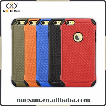 New hot design carbon fiber for iphone 6 tpu case