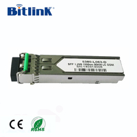 1.25G SFP Optical Transceiver TX1550/RX1310 10km Compatible with Cisco,HP,Huawei,HP