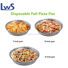 "Hot! China manufacturer 9""round aluminum foil tray for baking, disposable aluminum pizza baking pan"