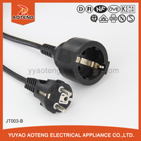 VDE approved European three core black or white waterproof rubber power cord with H05RN-F or H05RR-F 3X0.75/1.0MM2