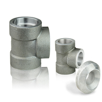 forged high pressure pipe fittings threaded stainless steel tee