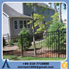 cheap garden steel fence post design/ powder coated fence /Wrought Iron fence ISO 9001 Factory