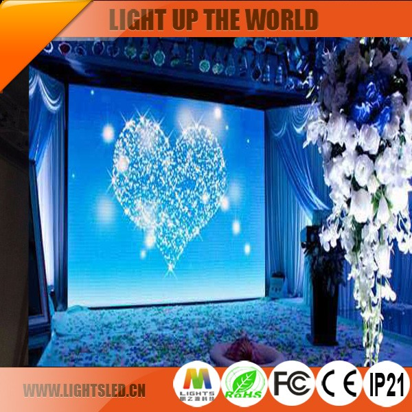 Indoor/outdoor LED display panel screen stage background LED video wall board P4 full color for rental