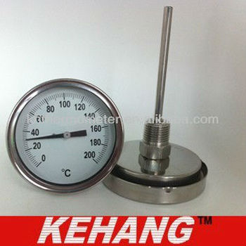 High quality industrial stainless steel temperature gauge
