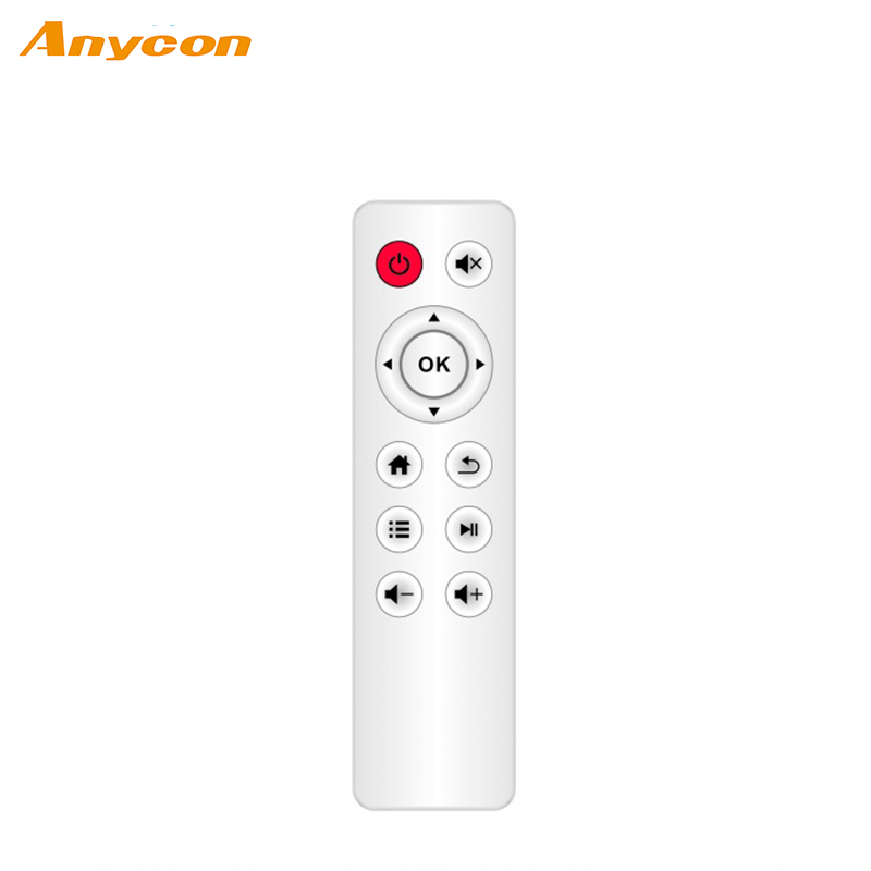 cheap home application rubber key type ir fm radio with remote control