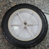 "solid rubber wheel for shopping carts / beach buggy 7"" x 1.5"""