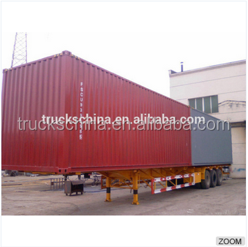 4 Axles 40ft semi trailer of car transport truck trailer