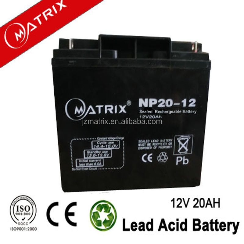 12v 20ah e-bike lead acid battery 6-dzm-20