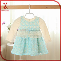 YY12 Spring new Korean children's clothing baby girls lace dress