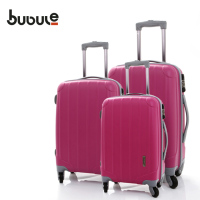 BUBULE trolley bag claasci design for travelling Light weight PP zipper trolley case