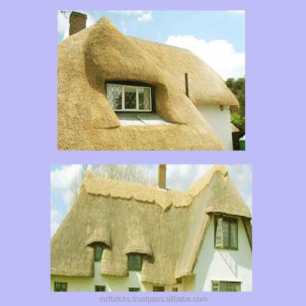 Thatch Roof Water Reed Construction in Cousine Island