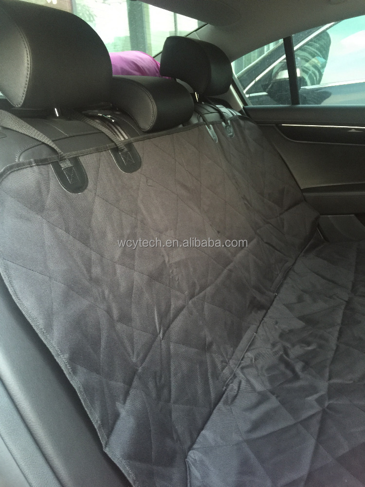Wholesale quality two layer waterproof (147*137cm) Back Seat Protector Pet Car Seat mat black color pet seat cover