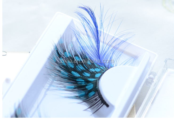 2018 Classcial Hot Sale Polka Dot Eyelashes Blue-Spotted Plume Fake Eyelashes
