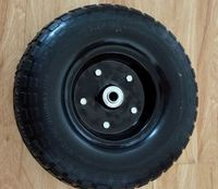 Replacement wheelbarrow flat free smal solid rubber wheel