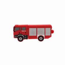 3D Free Designing Fire Truck Shaped USB Flash Drives Shell Udisk for Promotional Gift