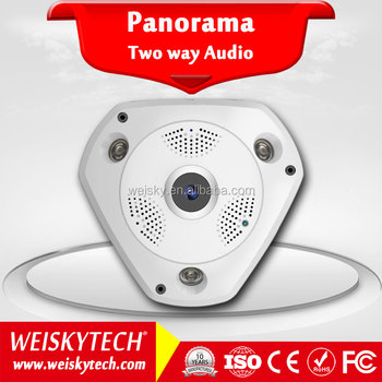 Weisky 2017 Best Sell 360 Degree Baby Home Security VR Panoramic Fisheye WiFi Camera H.265 5.0MP VR CAM Wireless IP Camera