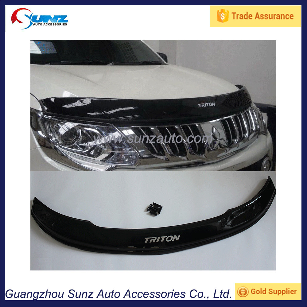 Bonnet Guards Black Protectors Hood Cover For <strong>Mitsubishi</strong> <strong>L200</strong> Triton 2015 pickup 2016 Accessories
