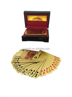 Colorized 500 Euro Full Print Style CASINO Color Playing Cards With Nice Wooden Box